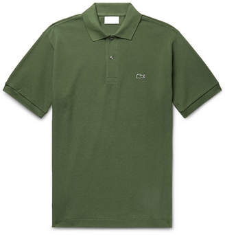 Lacoste Cotton-Pique Polo Shirt - Men - Leaf green