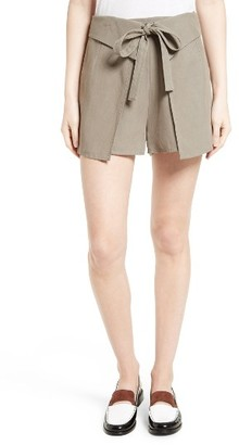 Women's Derek Lam 10 Crosby Wrap Front Shorts $395 thestylecure.com