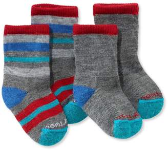 L.L. Bean L.L.Bean Toddlers' Smartwool Sock Sampler, Two Pack