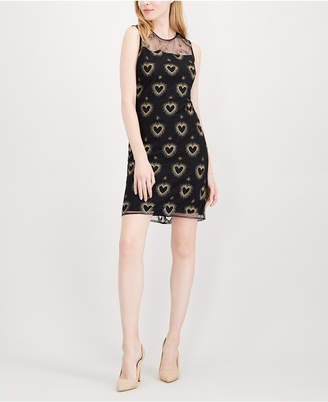 Maison Jules Embroidered Illusion Dress