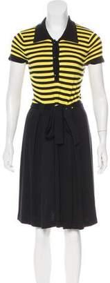 Milly Stripe Silk-Blend Dress