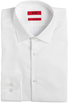 HUGO BOSS HUGO Men's Slim-Fit White Solid Dress Shirt