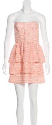 Alice + Olivia Tweed Strapless Mini Dress w/ Tags