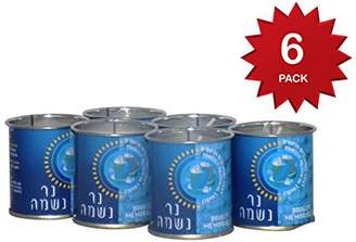 DAY Birger et Mikkelsen 24 Hour Yartzeit Memorial Candle in Tins (6 Pack)- White Perffin Wax Candle Burning Time Aprox. 1
