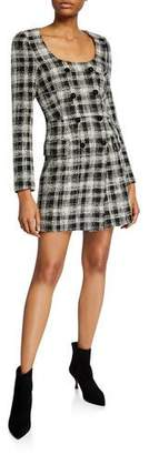 Veronica Beard Sondra Double-Breasted Plaid Dress