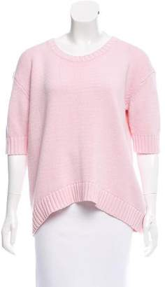 By Malene Birger Lace Accented Knit Sweater