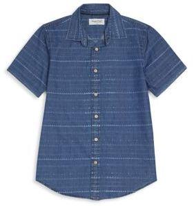Boy's Rush Printed Denim Shirt $38 thestylecure.com