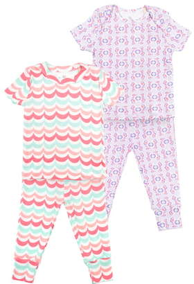 Oliver & Rain 2-Pack Organic Cotton Fitted Two-Piece Pajamas