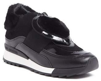 Love Moschino Round Toe Fabric Sneaker