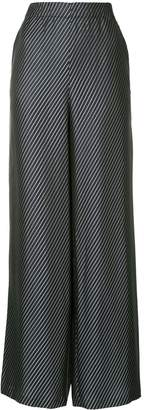 Zero Maria Cornejo diagonal stripe palazzo trousers