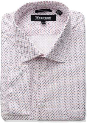 Stacy Adams Men's Big-Tall Mini Print Dress Shirt