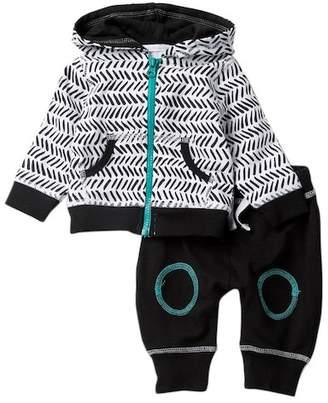 Baby Starters Geo Print Hoodie & Pant Set (Baby Boys)