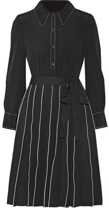 Marc Jacobs - Pleated Silk Mini Dress - Black $825 thestylecure.com
