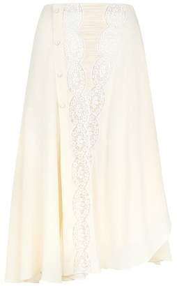 Chloé Silk Lace Skirt
