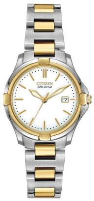 Citizen Women's Eco-Drive Silhouette Sport Two-Tone Bracelet Watch, 28mm
