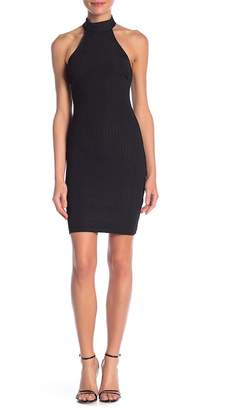 Wow Couture Halter Neck Ribbed Dress