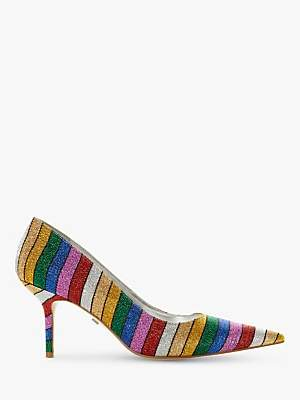Dune Arainbow Stiletto Heel Court Shoes, Multi
