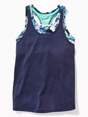 Old Navy 2-in-1 Twist-Back Performance Tank for Girls