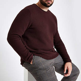 River Island Only and Sons Big and Tall burgundy sweater