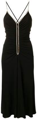 Emilio Pucci Black Gathered Crystal Detail Dress