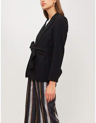 Claudie Pierlot Victa waist-tie woven jacket