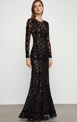 BCBGMAXAZRIA Velvet Lace Gown