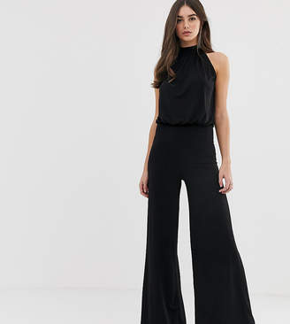 b5ecbeae0103 Flounce London Tall high neck wide leg jumpsuit