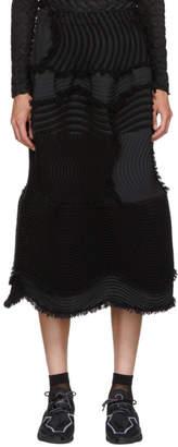 Issey Miyake Black Stag Knit Pleats Skirt