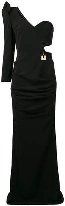 Elisabetta Franchi one-shoulder gown