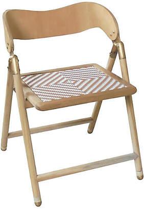 Selamat Uttan Folding Side Chair - Tan/White