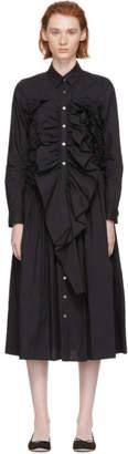 Chika Kisada Black Gathered Shirt Dress