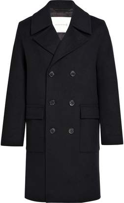 MACKINTOSH Black Wool & Cashmere Long Pea Coat GM-051F