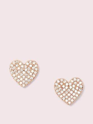 Kate Spade Yours truly pave heart studs