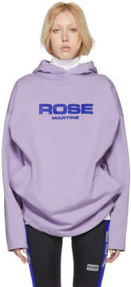 Martine Rose Purple Collapsed Hoodie