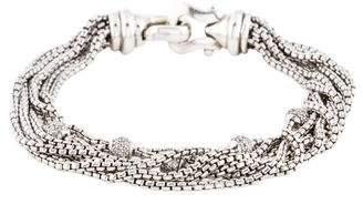 David Yurman Diamond Eight Row Chain Multistrand Bracelet