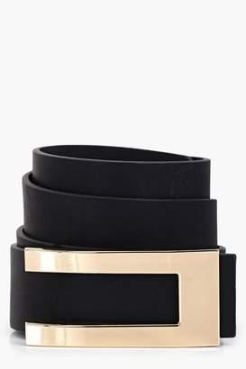 boohoo Martha Metal Plate Detail Belt