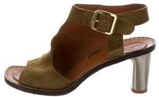 Céline Suede Cutout Sandals
