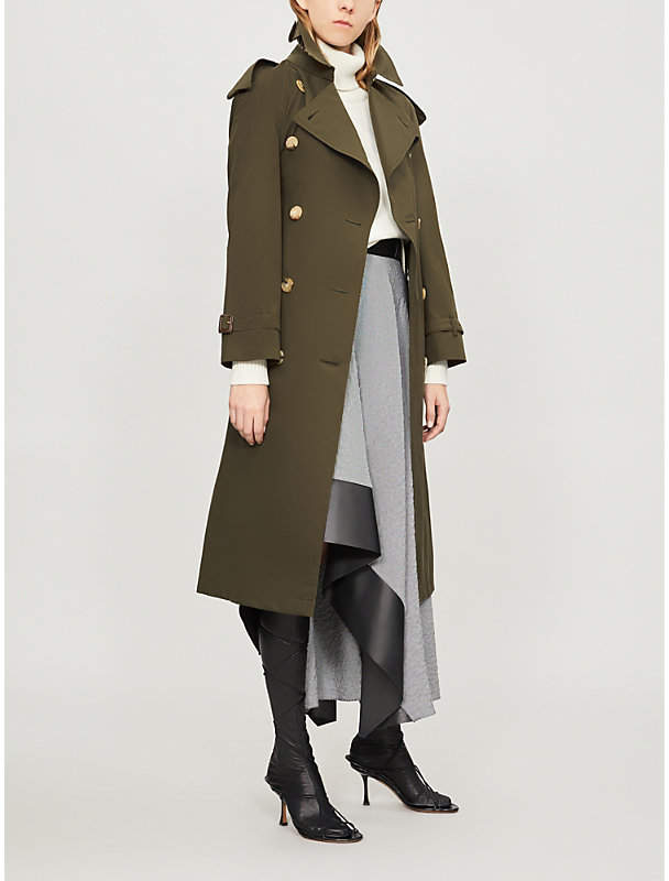 The Heritage Long Westminster cotton trench coat