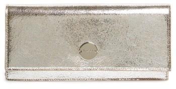 Jimmy ChooJimmy Choo Fie Metallic Leather Clutch - Metallic