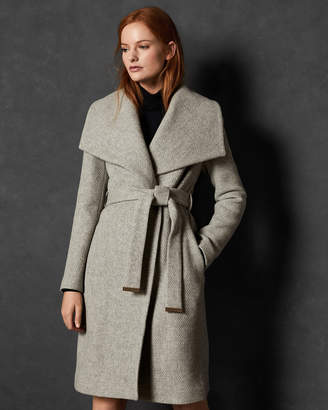 Ted Baker JEZIKYA Statement collared wool coat