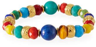 Jose & Maria Barrera Stretch Bracelet w\/ Glass Beads