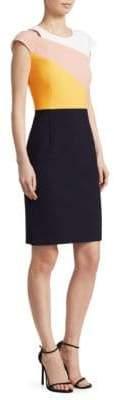 BOSS Cut-Out Colorblock Dress