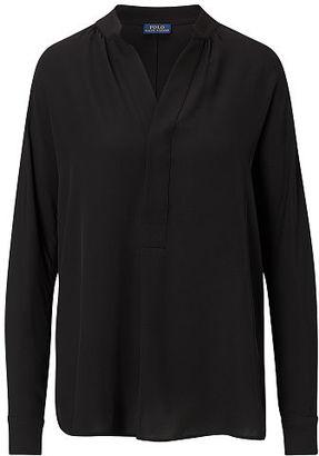 Polo Ralph Lauren Silk Georgette Shirt $198 thestylecure.com