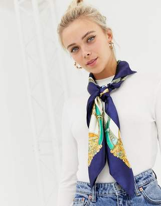 Miss Selfridge printed scarf in multi