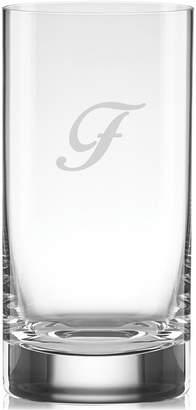 Lenox Tuscany Monogram Barware, Set of 4 Script Letter Highball Glasses