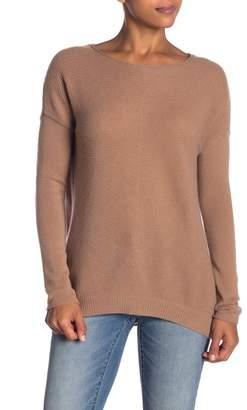 Sofia Cashmere Cashmere Scoop Neck Ribbed Sweater
