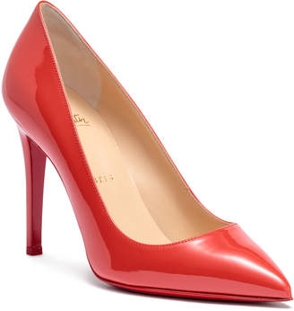 Christian Louboutin Pigalle 100 light red patent leather pumps