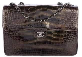 Chanel Alligator Classic Jumbo Single Flap Bag w/ Tags