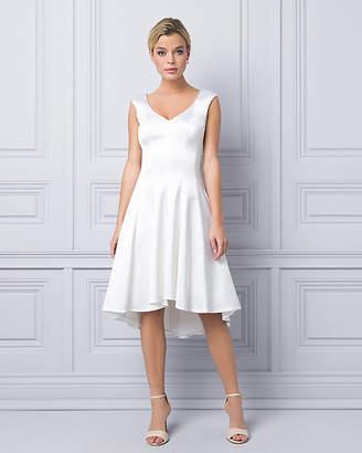 Le Château Satin V-Neck Cocktail Dress