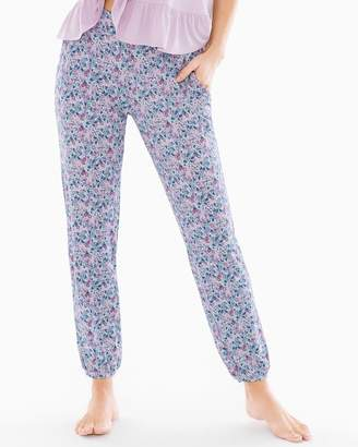 Cool Nights Banded Ankle Pajama Pants Bellissimo Ditsy Orchid